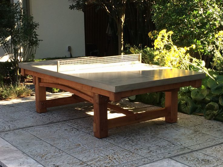 This One Of A Kind Outdoor Ping Pong Table Was A Custom Request From The Otness Family Outdoor Ping Pong Table Outdoor Table Tennis Table Ping Pong Table Diy