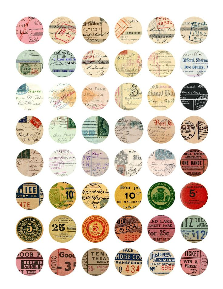 circle Printables for marble magnets & such. (more styles at linked page)
