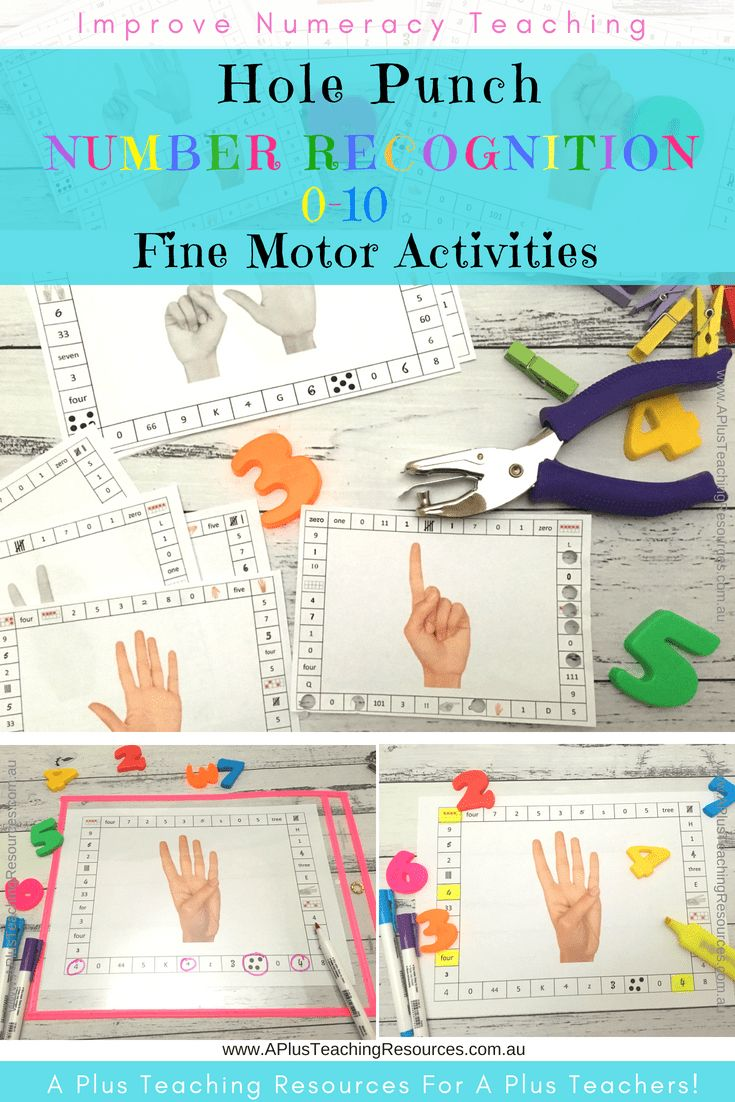 These numbers o-10 hole punch activities are engaging fine motor activities activities for recognising numbers, digits and quantities. Use this pack, numbers 0-10 hole punch activities,  to help your students match quantities as, tens frames, tallies, digits, words and counting on fingers for the numbers 0-10 . The use of a hand held hole punch will also help your kids develop the smaller muscles found in the hands, fingers and wrists. Grab a Fine Motor FREEBIE from our website! #math…