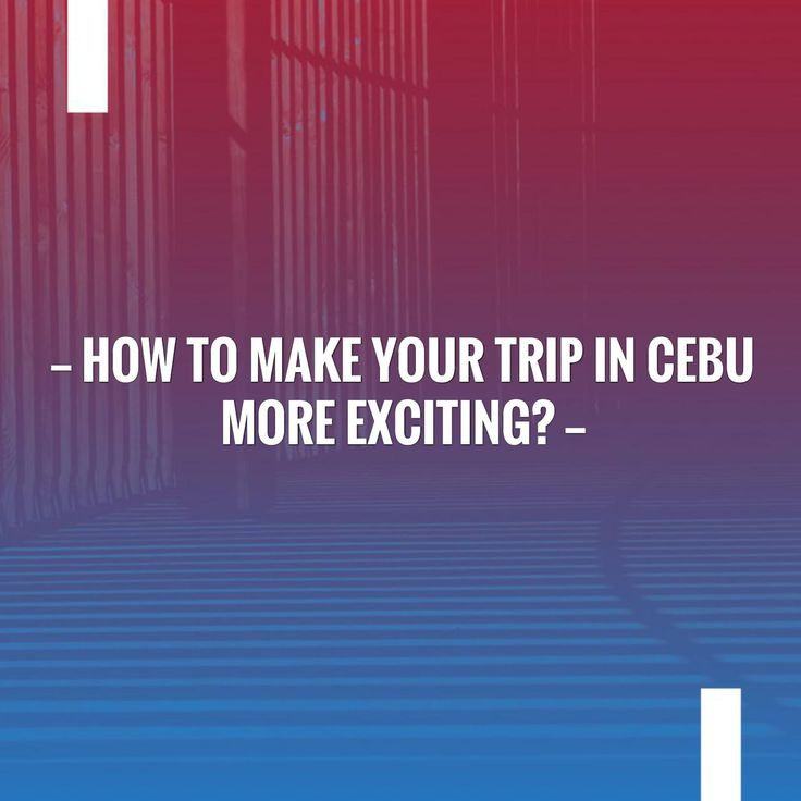 Tell me what you think of this? How to Make Your Trip in Cebu More Exciting? http://travelnholiday.com/how-to-make-your-trip-in-cebu-more-exciting/?utm_campaign=crowdfire&utm_content=crowdfire&utm_medium=social&utm_source=pinterest