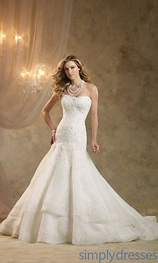 Kathy Ireland Strapless Bridal Gown at SimplyDresses.com