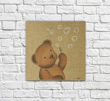 Tableau nounours décoration chambre d'enfant