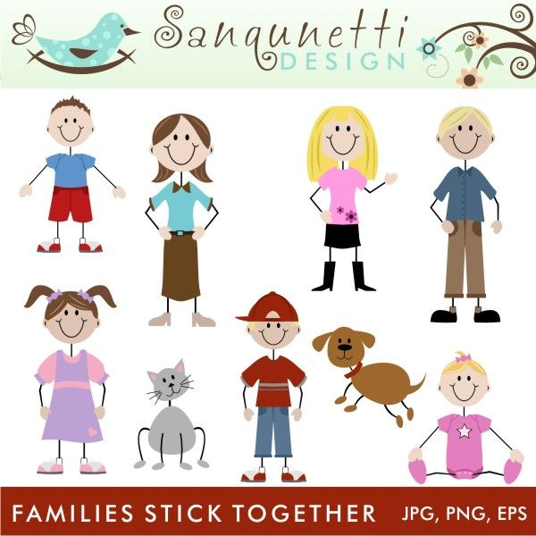 Best Clip Art Images On Pinterest Stick Figures Cartoon - Cartoon stick people clip art