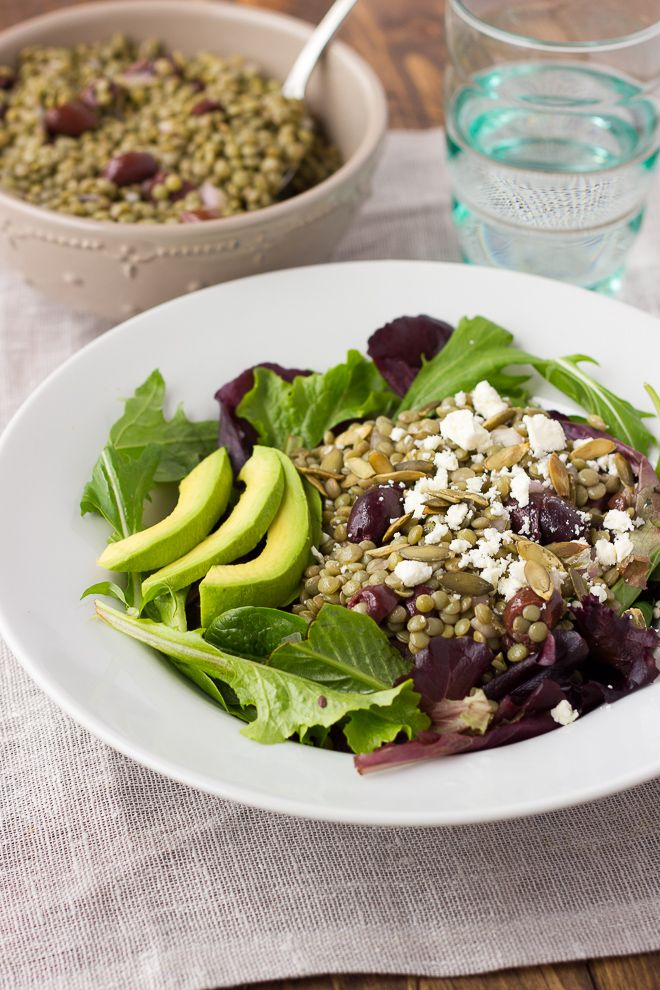 Lentil Salad with Olives and Feta. A flavorful salad you can keep in ...