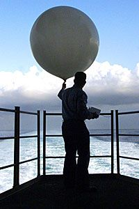 Weather balloons gather important data from the atmosphere.