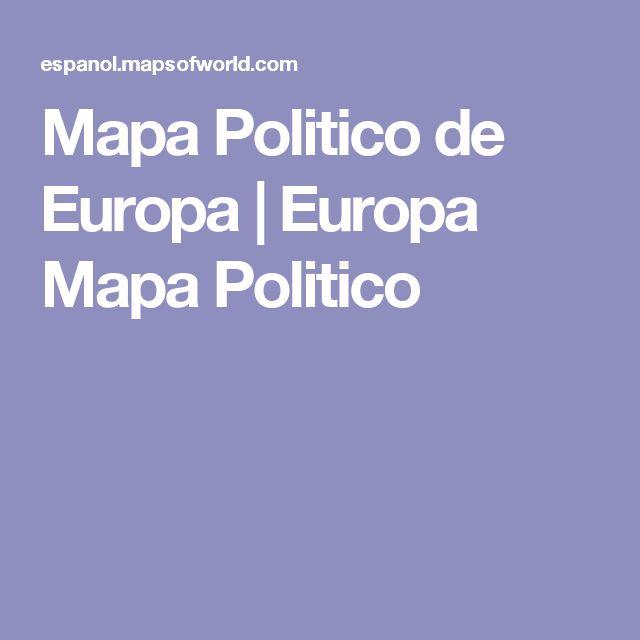 Mapa Politico de Europa   Europa Mapa Politico