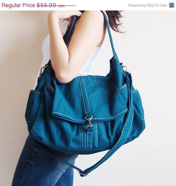 SPRING SALE Classic in Dark Teal - Shoulder Bag / Hobo / Tote / Purse / Messenger / Handbag / Diapers Bag / Hip Bag / School / Women / For H on Etsy, $49.50