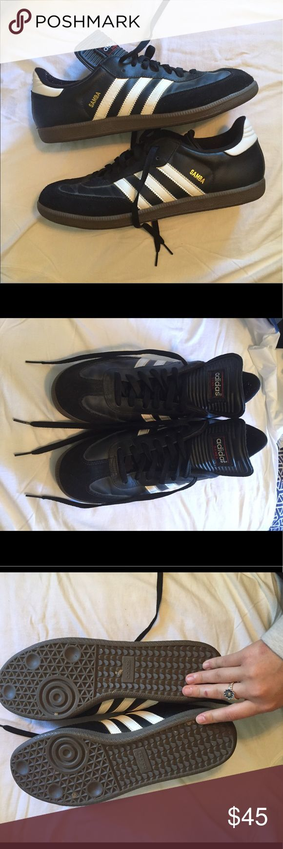 Black and White Sambas Adidas Samba Sneakers. In perfect condition only worn twice. Any questions please ask adidas Shoes Sneakers