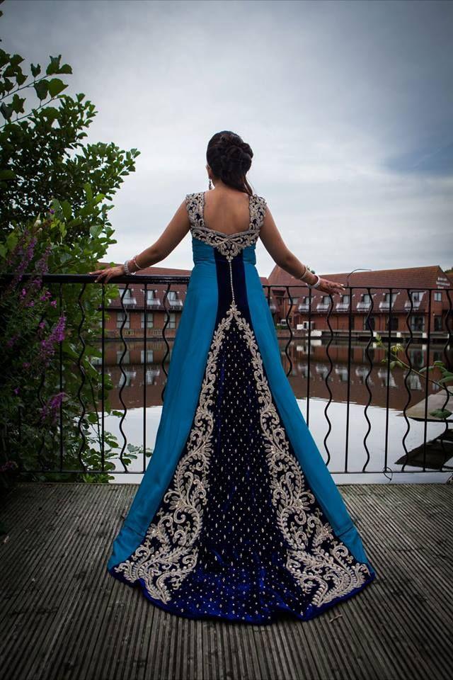 Blue Lehenga. Shaadi, Lengha, Shalwar Kameez, Indian Outfit, Pakistani Outfit, Indo-Pak