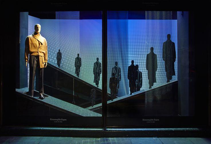 #ErmenegildoZegna #luxury #menswear #brand #AutumnWinter #2014 #Couture #Harrods #windows #takeover #Zegna  #ElementalDesign #design #producuction #installation #hi-tech #astronomical #MFW #retaildisplay #retailsolutions #Fashion #windows #BromptonRoad #London
