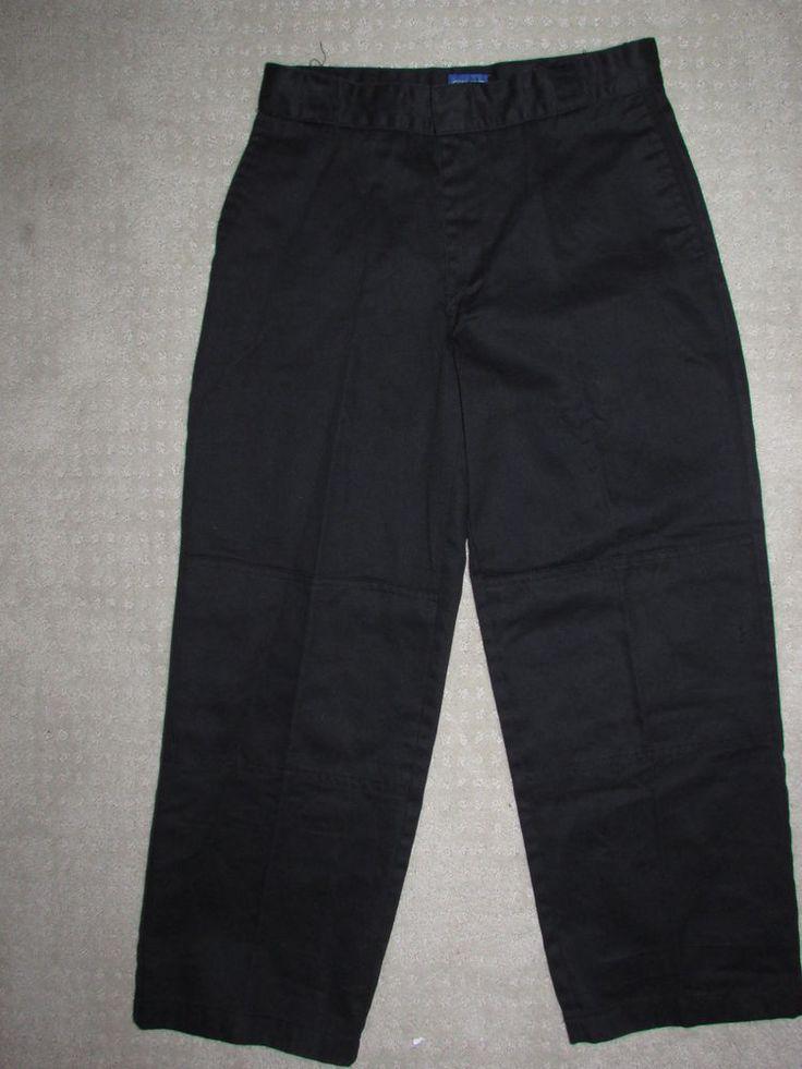 Boys Dickies 12H Black Casual Uniform Pants Black Khakis 28 x 24 Cell Pocket #Dickies #CasualUniformPants #Everyday