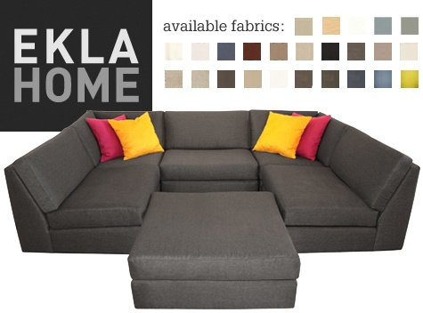 U shaped sofa. Game night sofa!