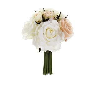 Small Rose Wedding Bouquet Peach Cream   Wedding Flowers   Afloral.com