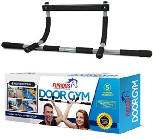 Door Gym Total Upper Body Iron Workout Bar Pull Up Chin Up Dips Abs Exercise
