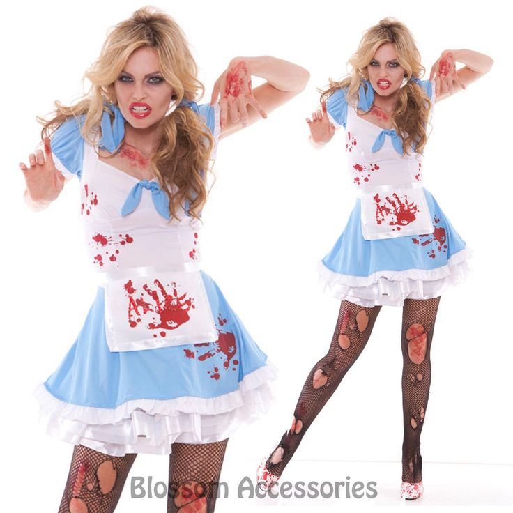 i85 zombie bloody mad alice in wonderland fancy dress horror halloween costume - Halloween Costumes Of Zombies