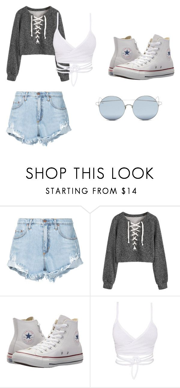 """""""Mall Outfit"""" by ronaldraegan-1 on Polyvore featuring Nobody Denim, Converse and For Art's Sake"""
