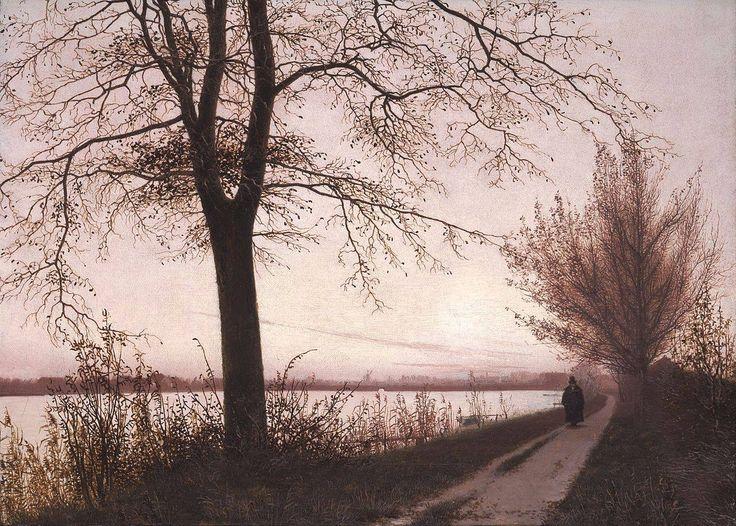 Christen Købke, Autumn Morning on Lake Sortedam; 1838