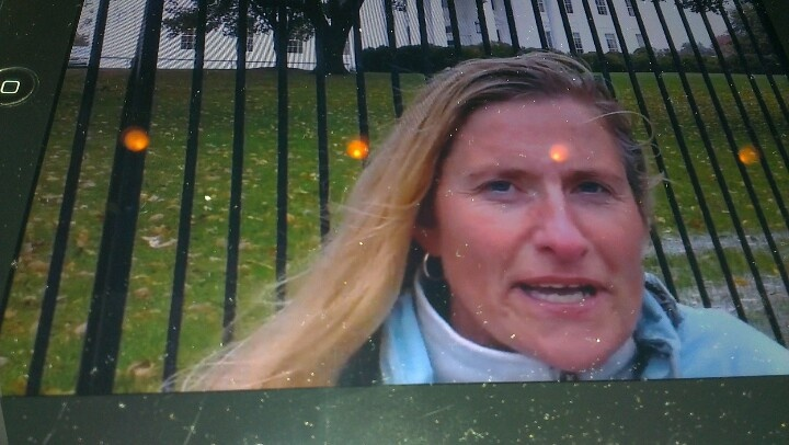 Video-comment on Hurricane Sandys impact on Obamas campaign - in front of White House...