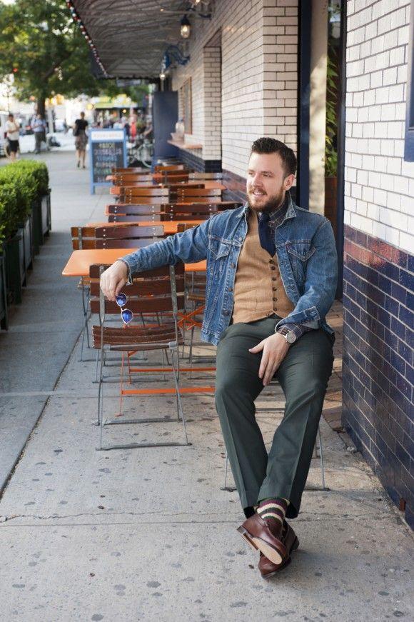 Denim jacket style from @TSBmen   Men's Style   Pinterest