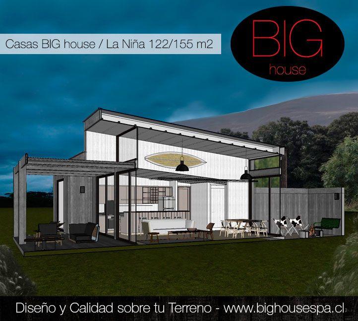 Casa La Nilña, corte: Terraza, Living, Patio de Fuego. Más detalles en www.bighousespa.cl