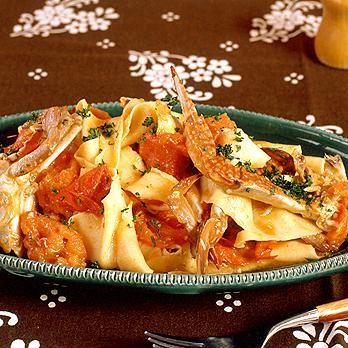 かにトマトソースのパッパルデッレ | 飯塚宏子さんのパスタの料理レシピ | プロの簡単料理レシピはレタスクラブネット