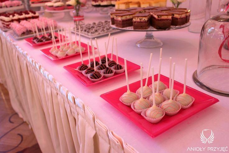 18. Pink Wedding,Sweet table / Różowe wesele,Słodki stół,Anioły Przyjęć