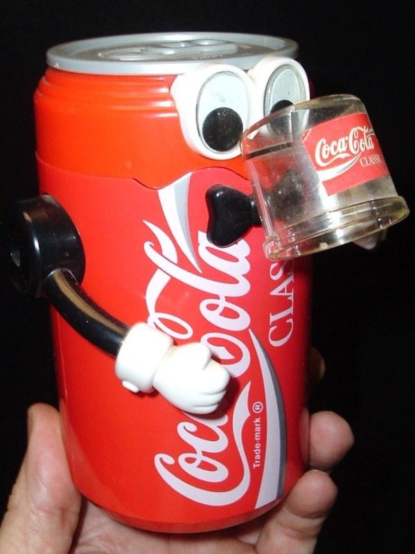 coca cola vintage robot can coin bank coca cola pinterest. Black Bedroom Furniture Sets. Home Design Ideas