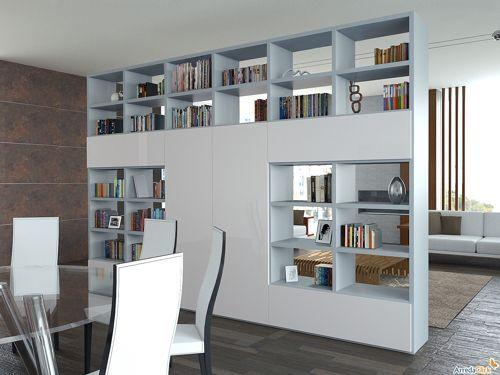 17 mejores ideas sobre estanter a separador de ambientes - Mueble separador de ambiente ...