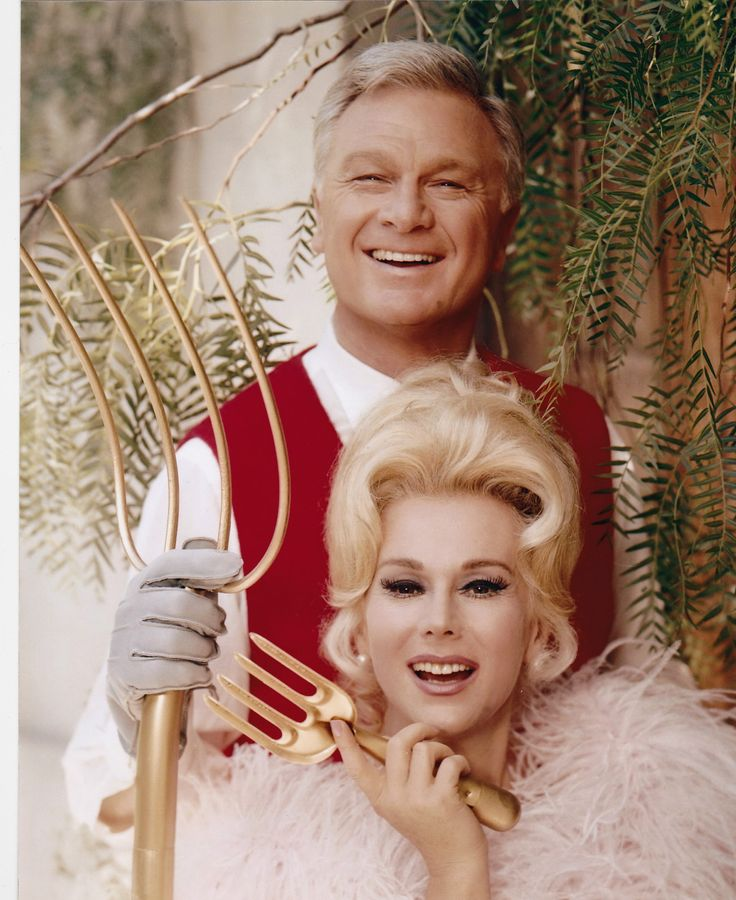 Eva Gabor & Eddie Albert as 'Lisa & Oliver Wendell Douglas' in Green Acres (1965-71, CBS) — The series was produced by Filmways as a sister show to Petticoat Junction (1963-70, CBS).