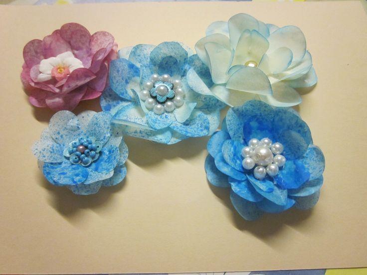 fiori in carta vellum