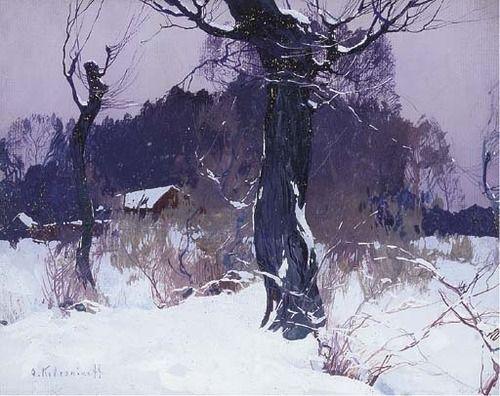 Landscape in Winter, Stepan Fedorovich Kolesnikov. Russian (1879 - 1955)