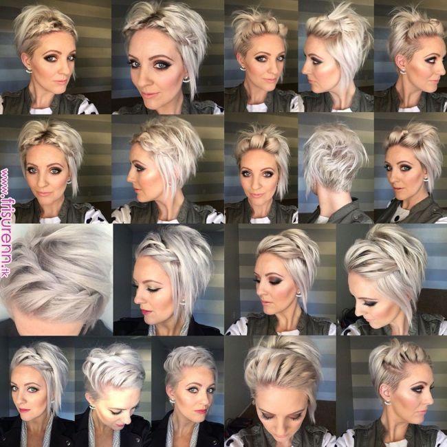 Frische kurze und einfache Frisuren – #Einfache #f…