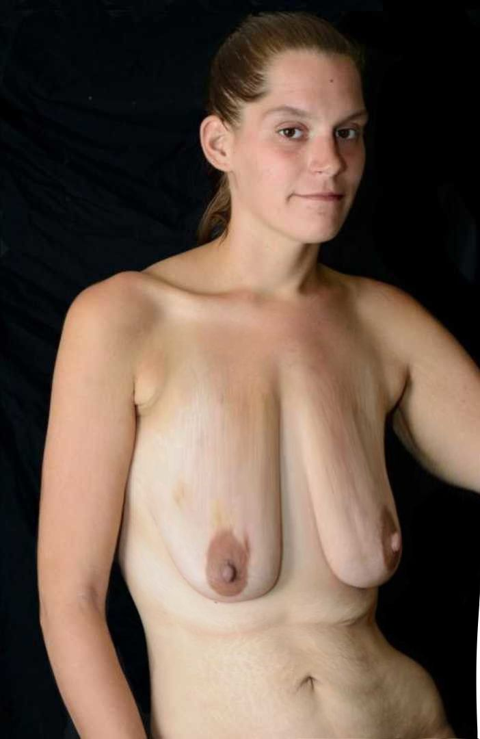 Milf hanging boobs agree she