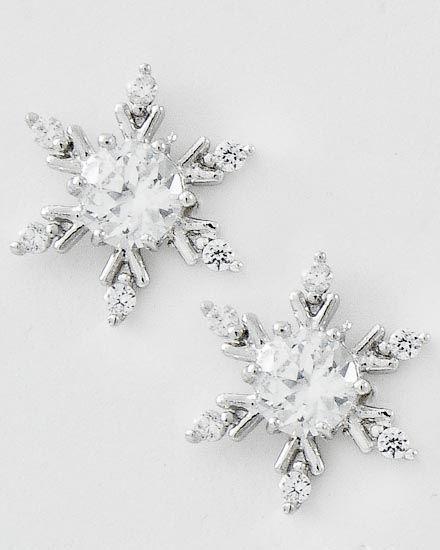 Snowflake earrings!