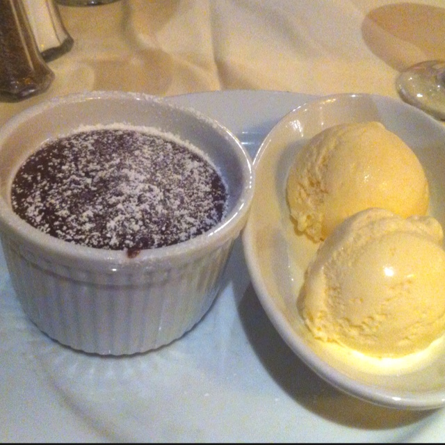 Warm Chocolate Melting Cake and Vanilla Ice Cream on a Carnival Cruise:) Most Amazing thing EVER!!!