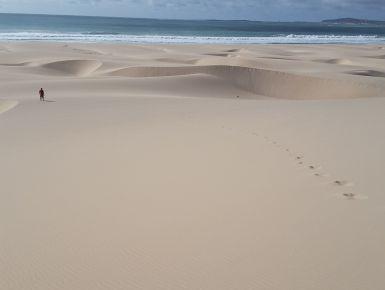 Capoverde - Siamo partiti il giorno 3 maggio dopo 6 ore di volo siamo arrivati a Boavista isola bellissima ma spartana dal punto di vista di vacanza.gente bellissima ed ospitale ricordarsi che siamo in africa .Spiaggie stupende come quelle dei caraibi,tira sempre vento onde grandi ma se si vuole far sport e'il massimo.Piccoli deserti con dune che finiscono nell'oceano ,vacanza bellissima la consiglio.