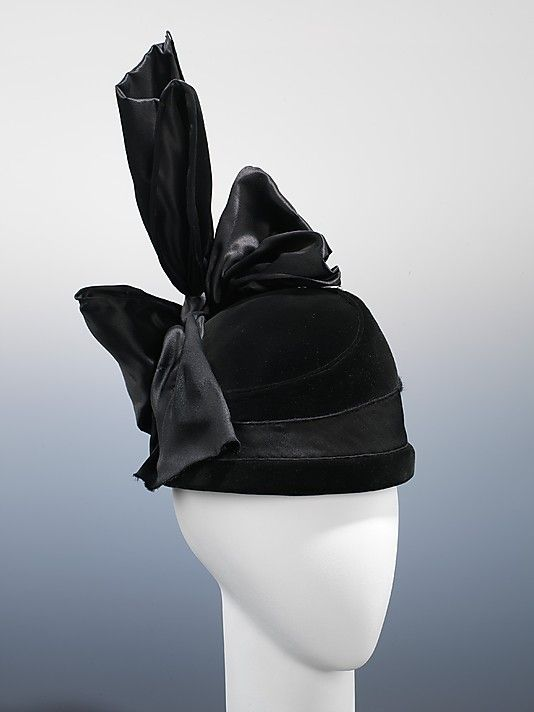Evening Hat 1914, American, Made of silk