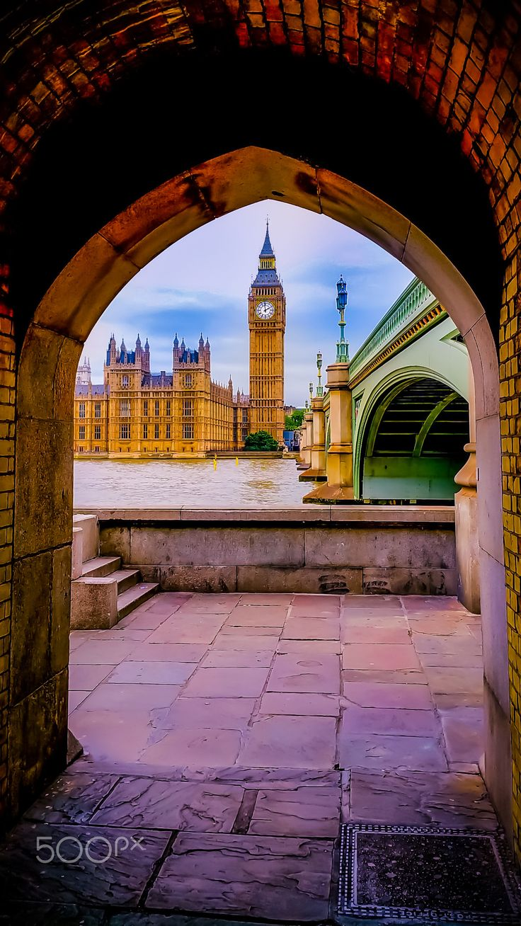 I took this picture at the start of an underground tunnel that runs under Westminster Bridge. It is a look back through the tunnel eye on the British soul and heritage.