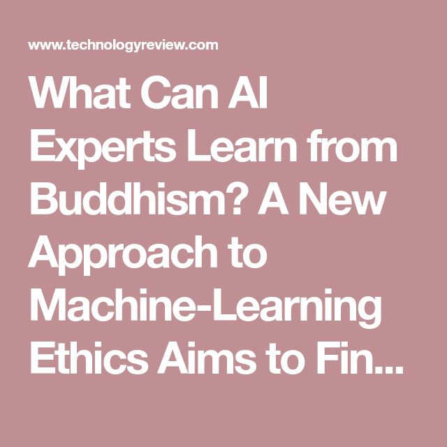 What Can AI Experts Learn from Buddhism? A New Approach to Machine-Learning Ethics Aims to Find Out
