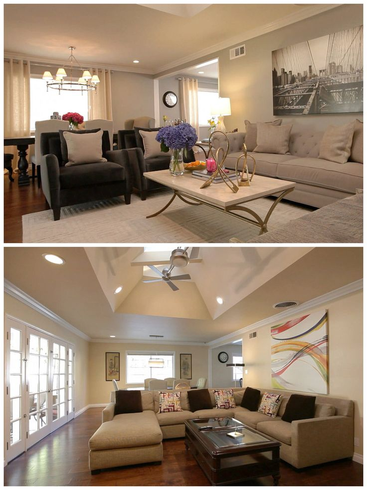 Before and after woodland hills jeff lewis and woodland for Jeff lewis living room designs