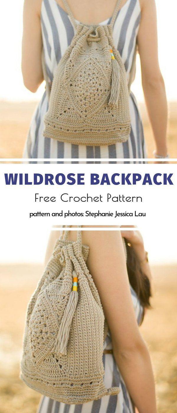Crochet Summer Backpacks Free Patterns