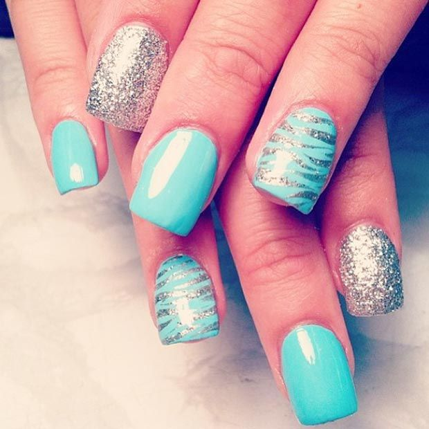Best 25 turquoise nail designs ideas on pinterest turquoise 17 gorgeous blue nails art prinsesfo Choice Image