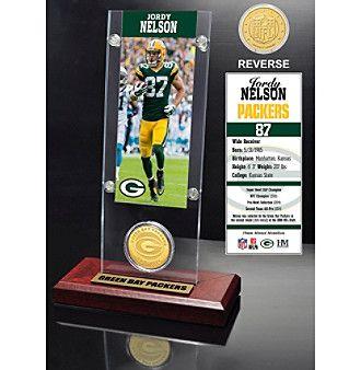 NFL® Green Bay Packers Jordy Nelson Ticket & Bronze Coin Desktop Acrylic