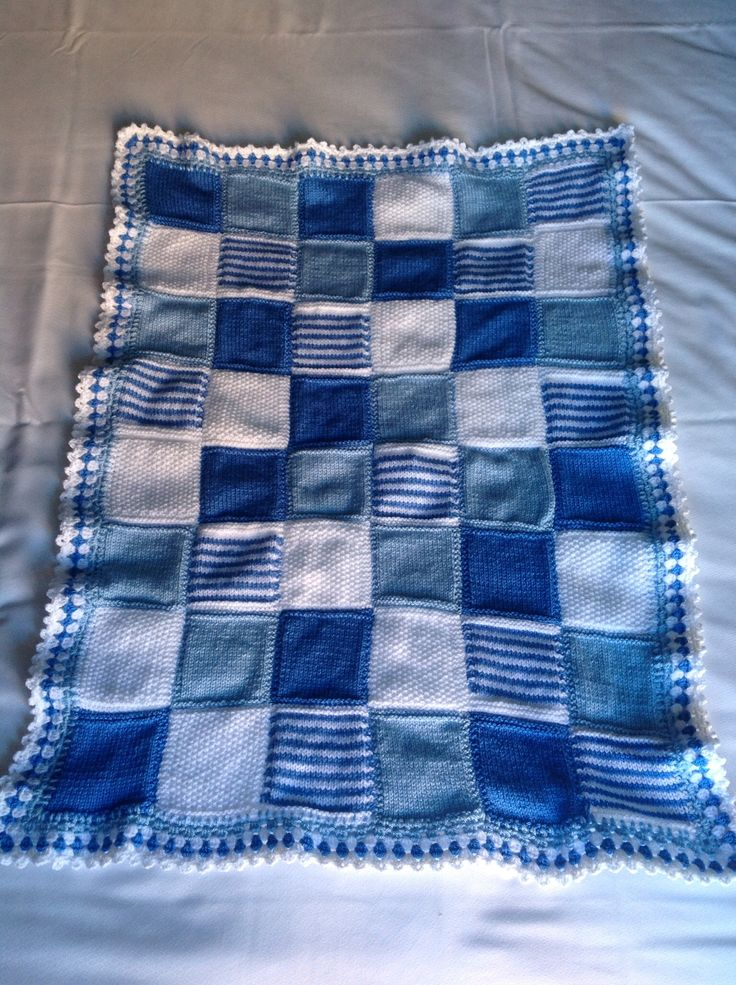 Battersea Dog Blanket Knitting Pattern : Baby Blues knitted square blanket To do! Pinterest Squares, Babies and ...