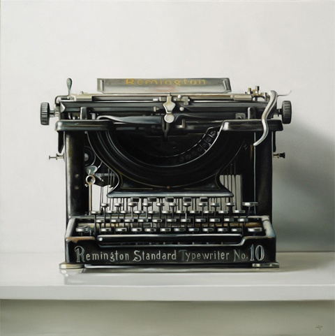 Christopher Stott's amazing photorealistic painting of a typewriter! incredible! >> Absolutely Beautiful!