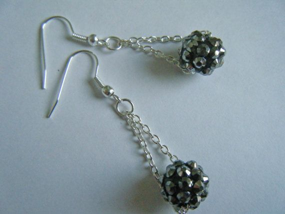 Shamballa ball earrings, now in my Etsy shop https://www.etsy.com/listing/188185924/shamballa-earrings-statement-earrings