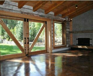 White wood walls with other natural elements for walls instead of Sheetrock