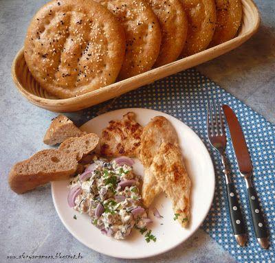 Az áfonya mámora: Török lepénykenyér roston sült csirkével és padliz...