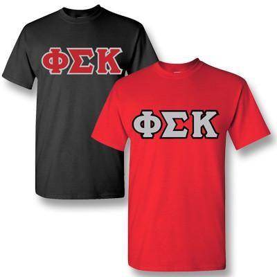 Phi Sigma Kappa Fraternity 2 T-Shirt Pack - Gildan 5000 - TWILL