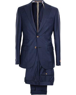 Morris Heritage Frank Hopsack Suit Super 110's Navy